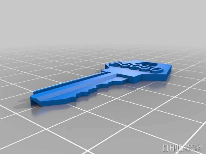 定制化房屋挂锁钥匙模型 3D模型  图1