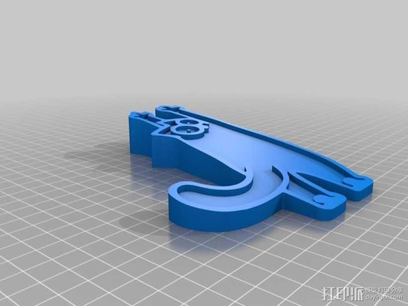 迷你猫形门吸模型 3D模型  图5
