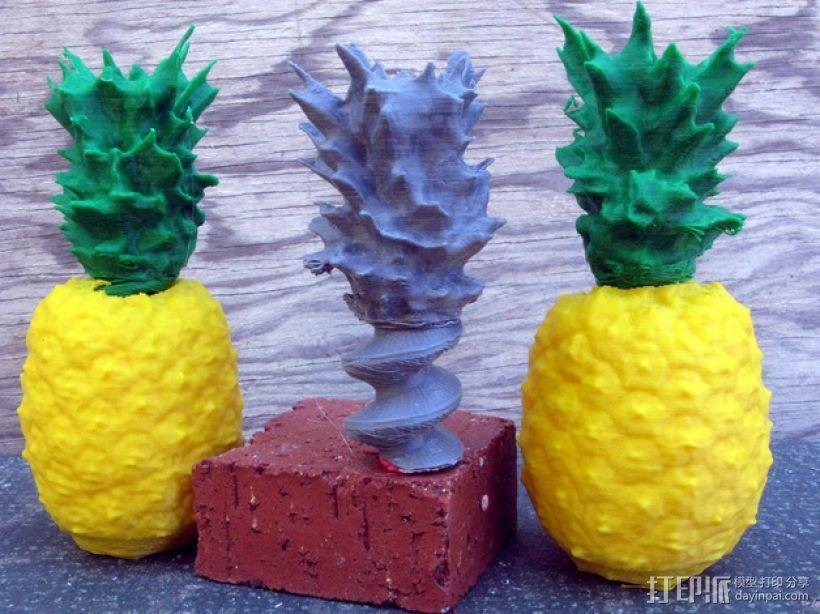 迷你菠萝模型 3D模型  图1