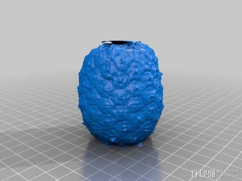 迷你菠萝模型 3D模型  图3