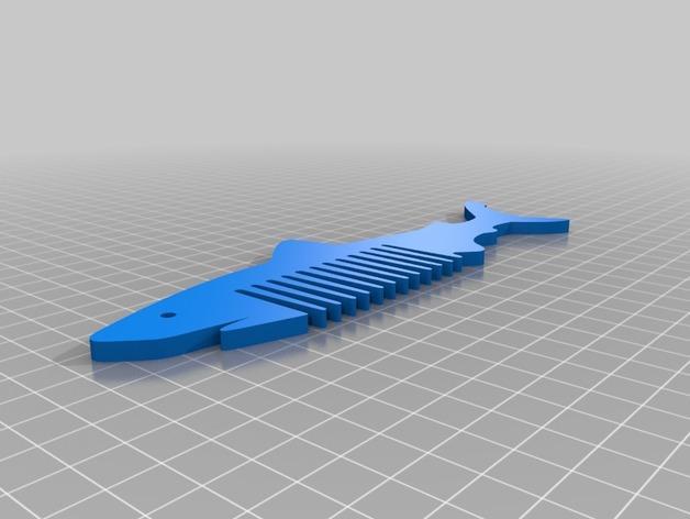 鲨鱼形梳子模型 3D模型  图2