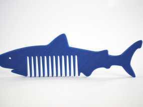 鲨鱼形梳子模型 3D模型
