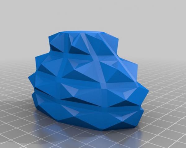 几何形橙色花瓶模型 3D模型  图4