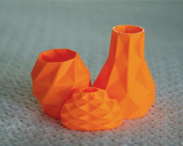 几何形橙色花瓶模型 3D模型  图5