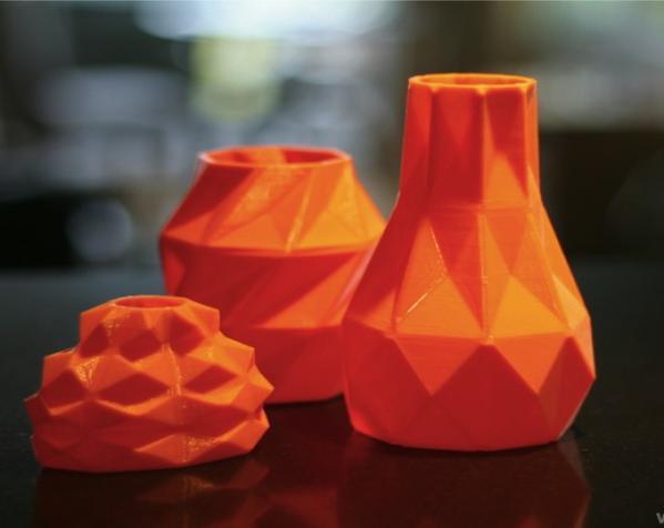 几何形橙色花瓶模型 3D模型  图7