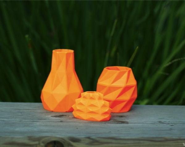几何形橙色花瓶模型 3D模型  图6