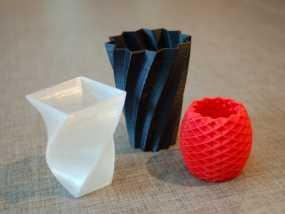 花盆/花瓶/笔筒/酒杯模型 3D模型