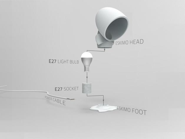 爱斯基摩台灯模型 3D模型  图1