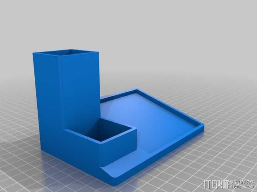 多功能笔筒模型 3D模型  图2