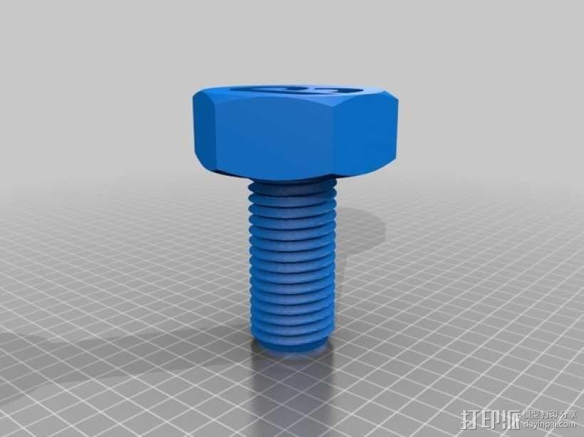螺丝形笔筒模型 3D模型  图2