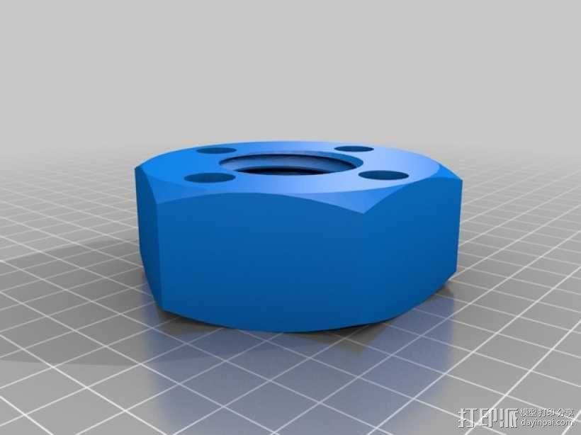 螺丝形笔筒模型 3D模型  图3