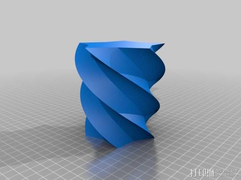定制化多边形花瓶/花盆模型 3D模型  图2