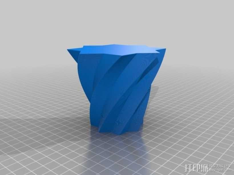 定制化多边形花瓶/花盆模型 3D模型  图5