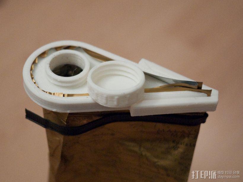 咖啡袋盖子模型 3D模型  图1