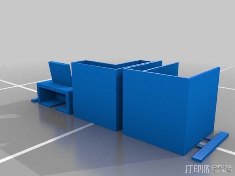 模块化书桌文具盒模型 3D模型  图7