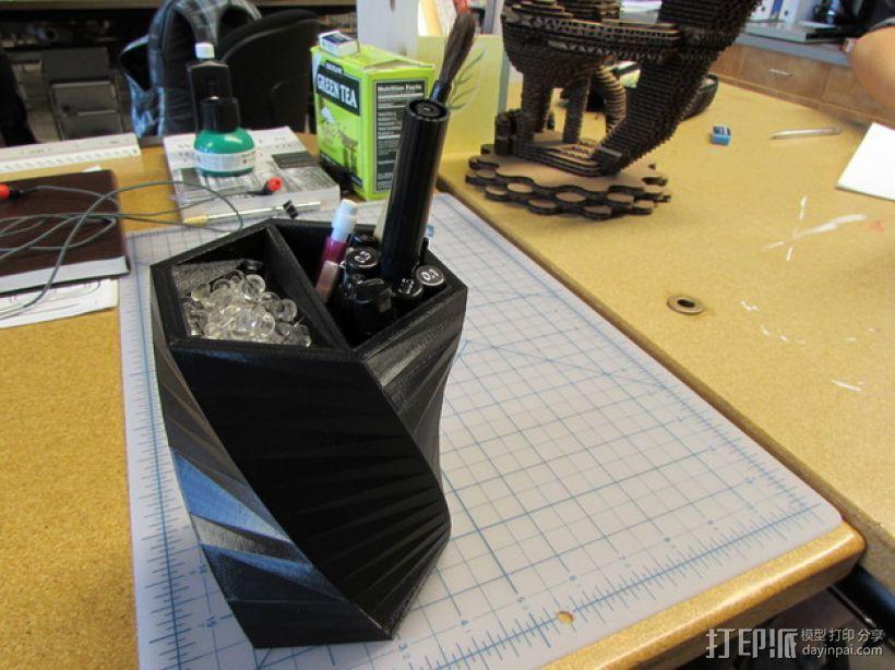 笔筒/大头钉盒模型 3D模型  图1