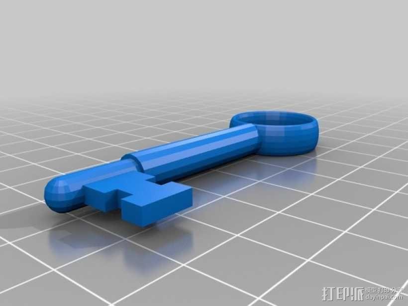 房间钥匙模型 3D模型  图2