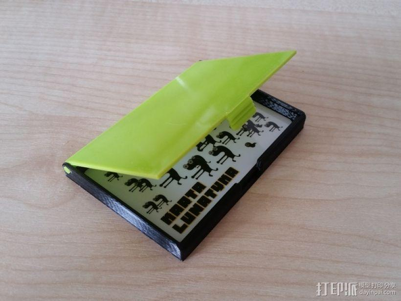 名片卡盒/信用卡盒模型 3D模型  图1