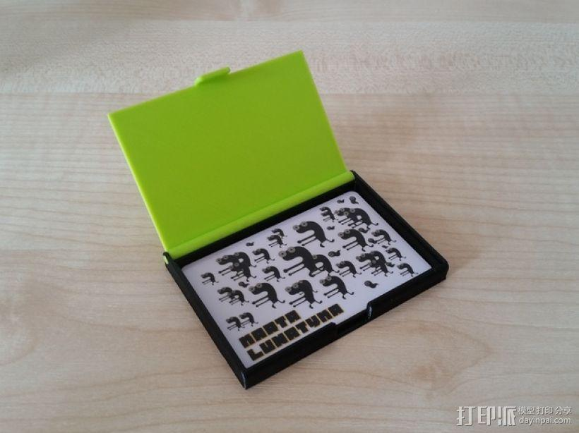 名片卡盒/信用卡盒模型 3D模型  图2