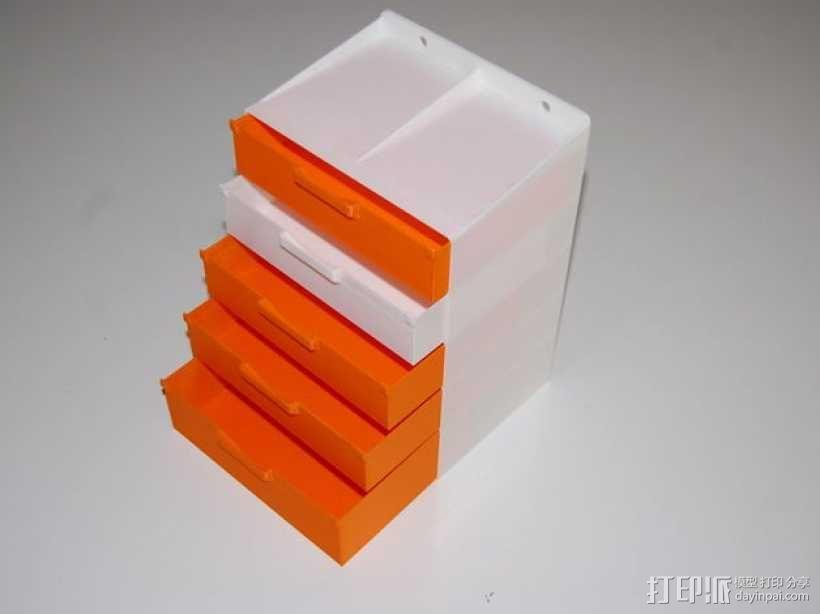 迷你抽屉/橱柜模型 3D模型  图1