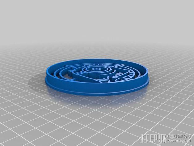 小黄人饼干切割刀模型 3D模型  图2