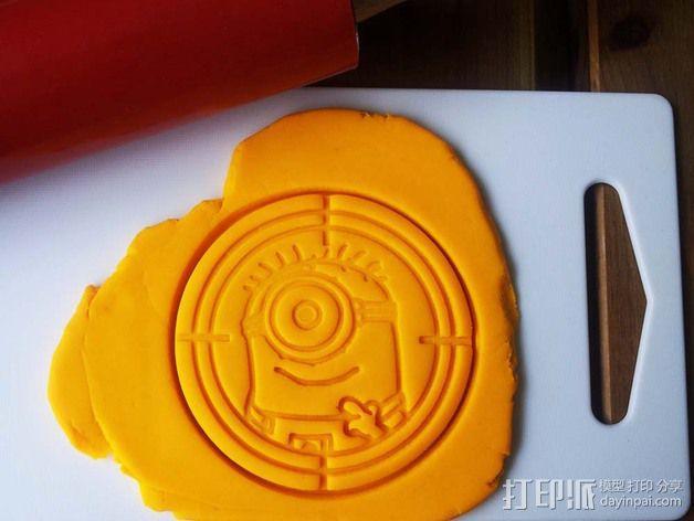 小黄人饼干切割刀模型 3D模型  图3