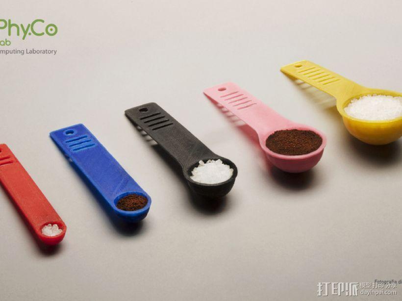 调味料小匙模型 3D模型  图1