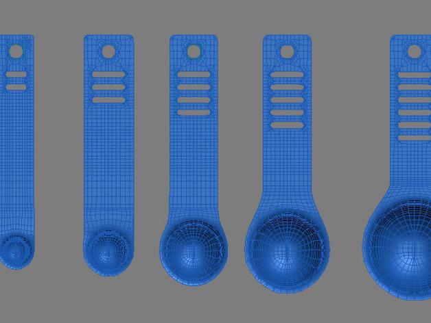 调味料小匙模型 3D模型  图7
