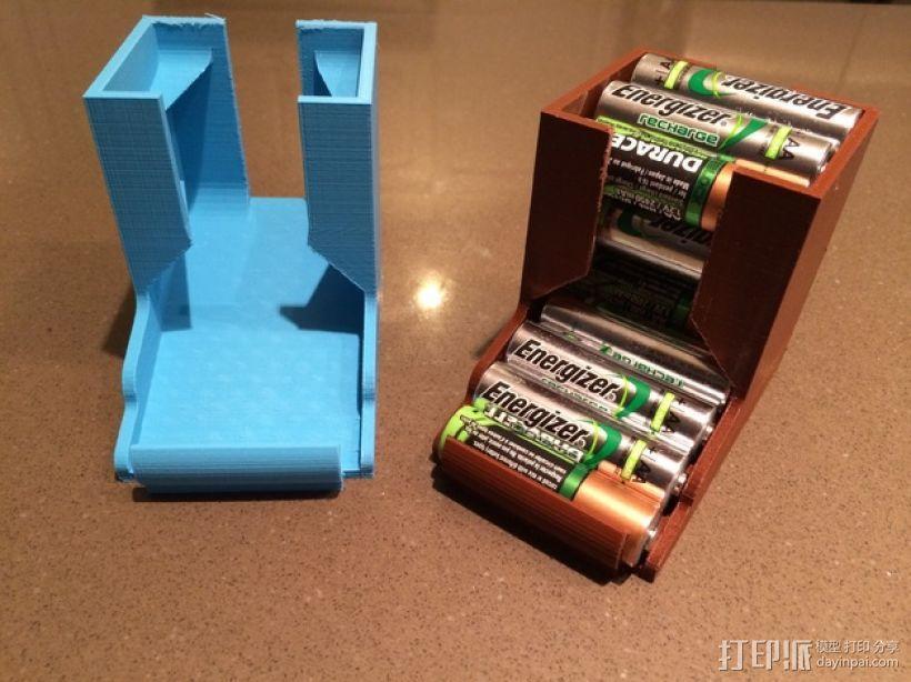 桌面电池盒模型 3D模型  图1