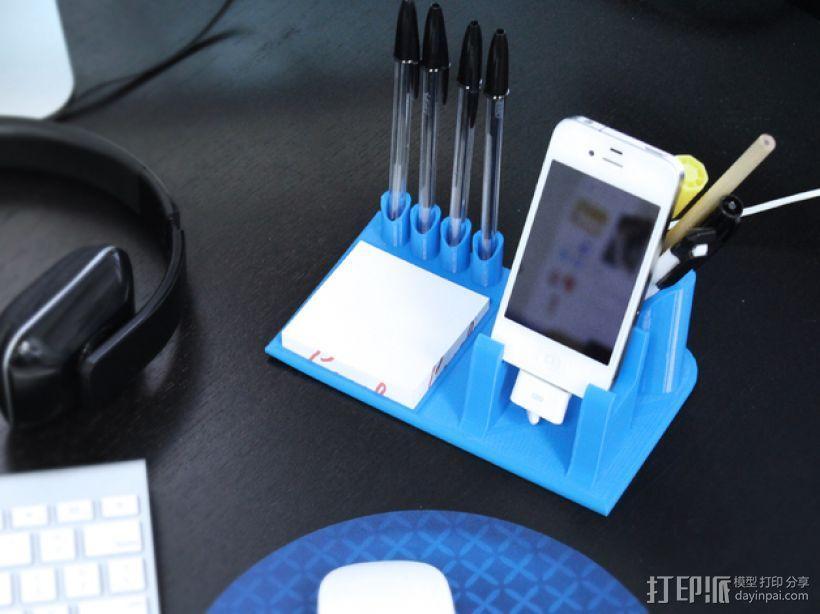 桌面规整架/笔筒/手机底座 3D模型  图1