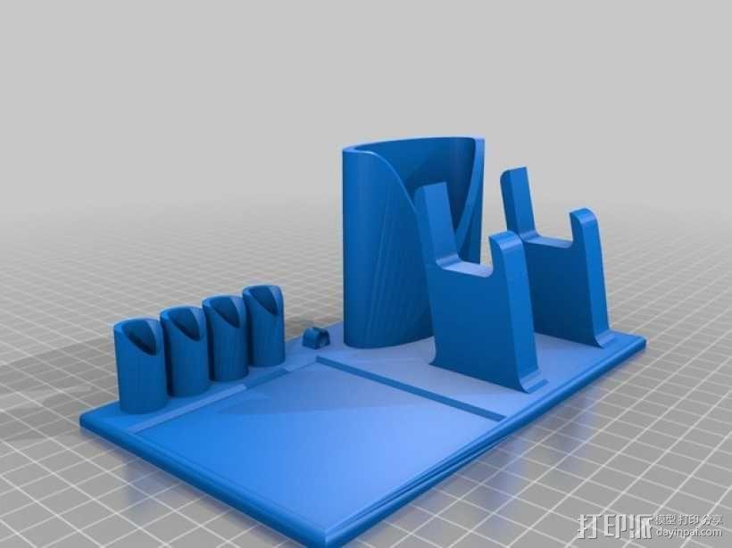 桌面规整架/笔筒/手机底座 3D模型  图2