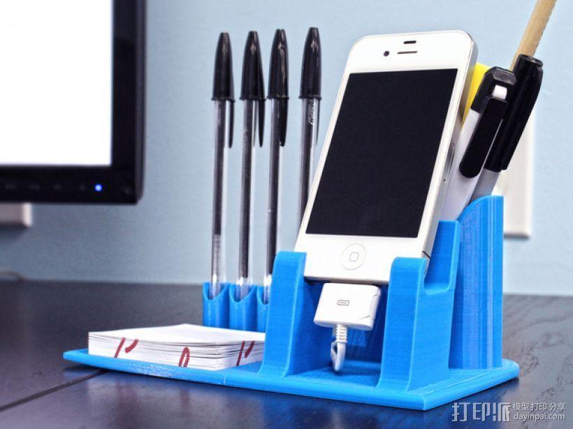 桌面规整架/笔筒/手机底座 3D模型  图3