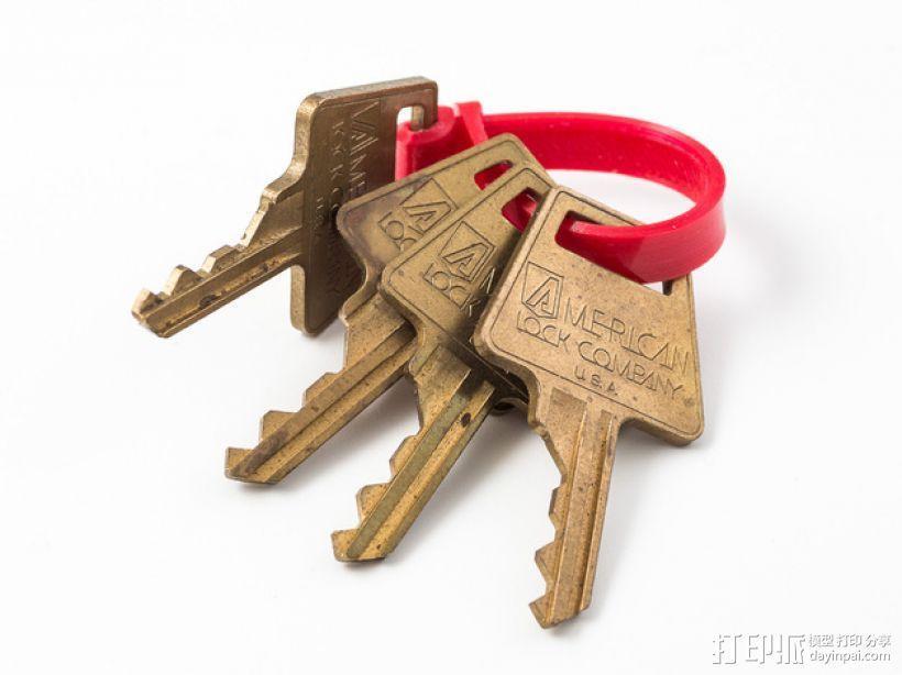 迷你钥匙圈模型 3D模型  图1