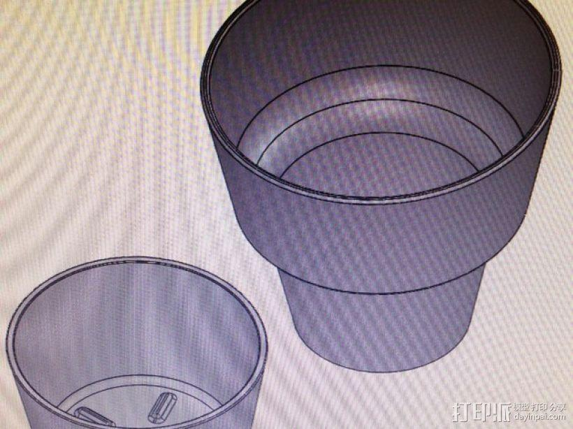 迷你花盆模型 3D模型  图6
