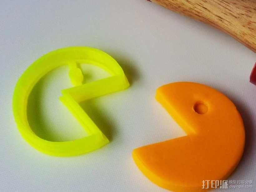 吃豆人饼模型切割刀 3D模型  图1