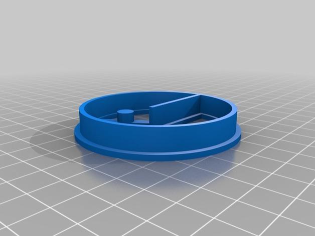 吃豆人饼模型切割刀 3D模型  图3