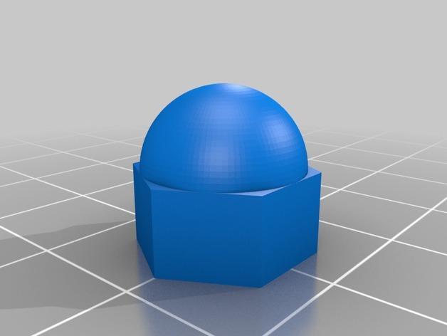 参数化螺帽模型 3D模型  图2