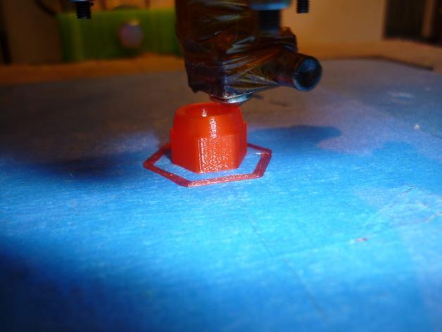参数化螺帽模型 3D模型  图3