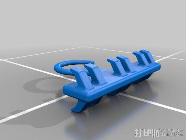 迷你皮带挂钩模型 3D模型  图2