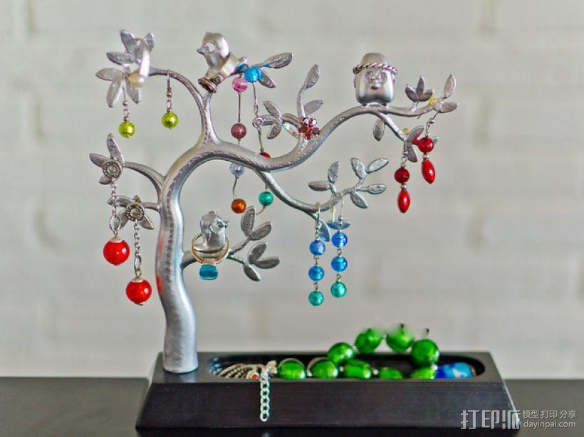 珠宝首饰树模型 3D模型  图1