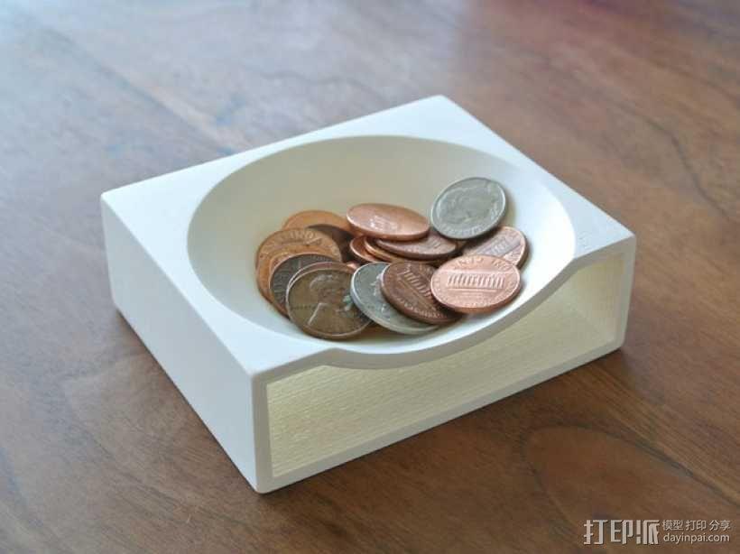 硬币托盘模型 3D模型  图1