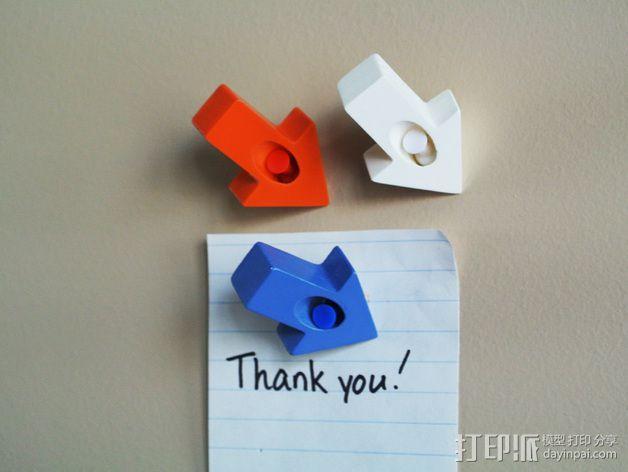 箭头形图钉模型 3D模型  图2