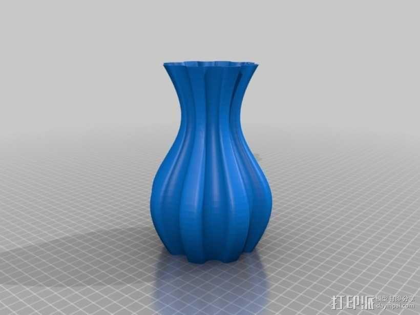 螺旋状圆形花瓶模型 3D模型  图4