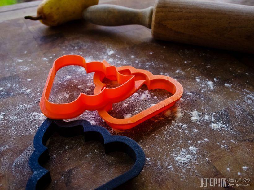 饼干模型切割刀 3D模型  图3