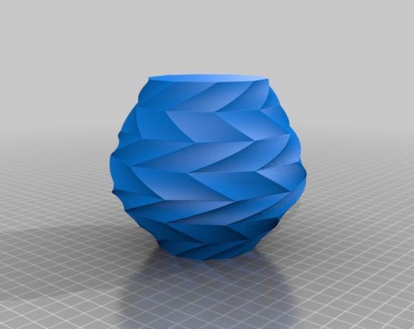 Z字形花瓶模型 3D模型  图2