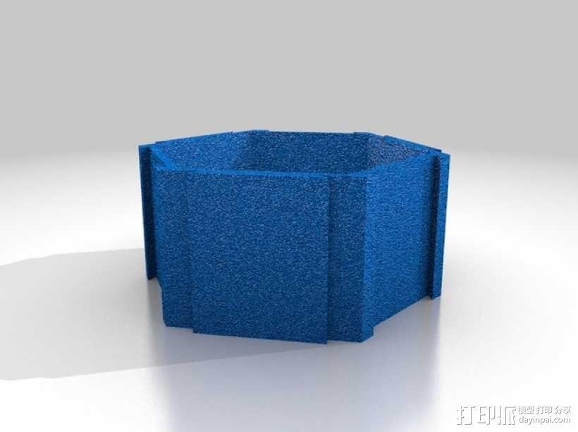 六边形桌面规整架 3D模型  图2