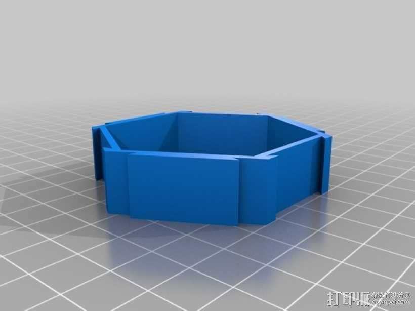 六边形桌面规整架 3D模型  图4
