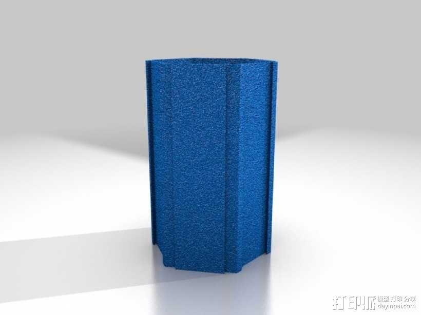 六边形桌面规整架 3D模型  图3