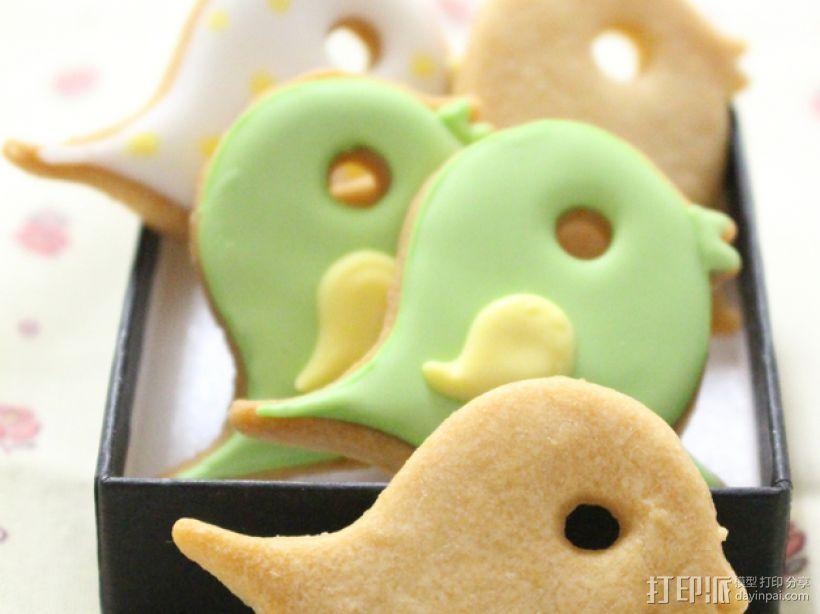 小鸟形饼干制作切割刀 3D模型  图2