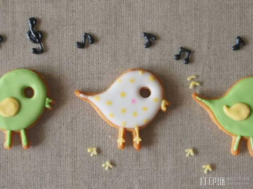 小鸟形饼干制作切割刀 3D模型  图1